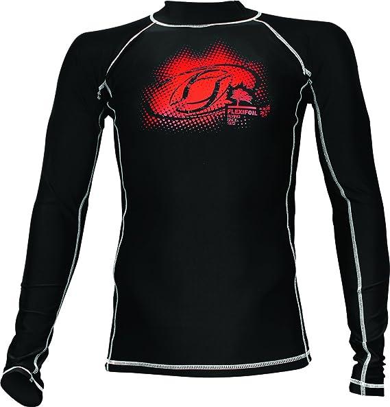 Camiseta térmica de neopreno para hombre, de manga larga, ideal para natación, buceo, kitesurf y surf, de color negro: Amazon.es: Ropa y accesorios