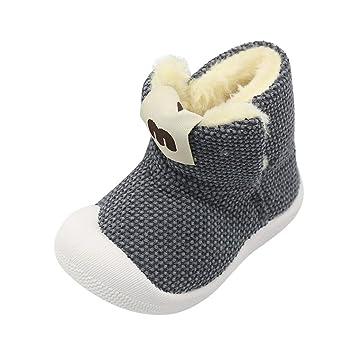 Newborn Baby Toddler Boy Girl Snow Boots Winter Warm Knit Crib Shoes Prewalker