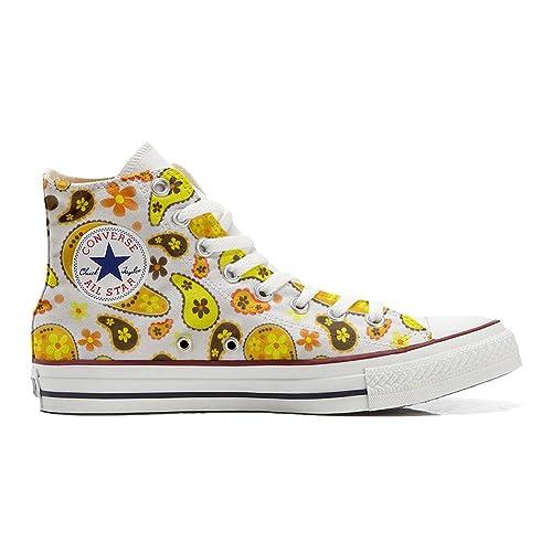 Converse All Star Zapatos Personalizadas Unisex (Producto Artesano) Hippie Paisley: Amazon.es: Zapatos y complementos