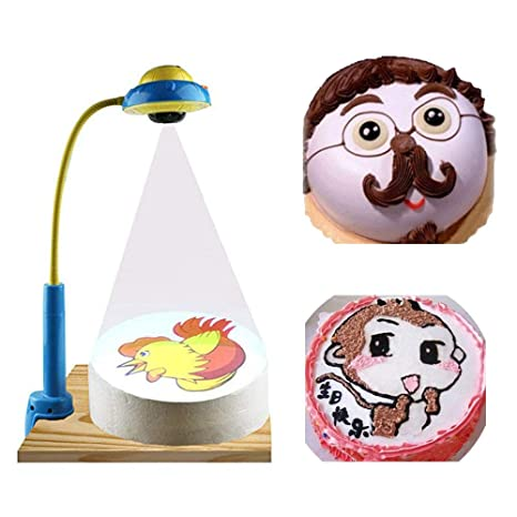 Amazon.com: JIAWANSHUN DIY Cake Projector Pictures Projector ...
