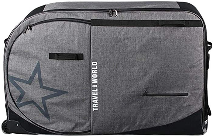 Bolsa de Transporte de Bicicleta Plegable Bolsa plegable bici plegable de viaje bolsa de almacenamiento caja con rodillo de carga de bolsa de bicicletas de montaña de documentación de equipaje: Amazon.es: Hogar