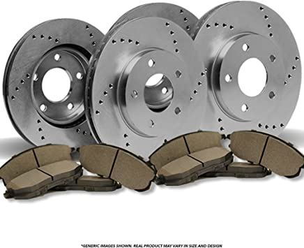 Fit 2007-2011 Toyota Camry Rear OESpec Brake Rotors Ceramic Pads