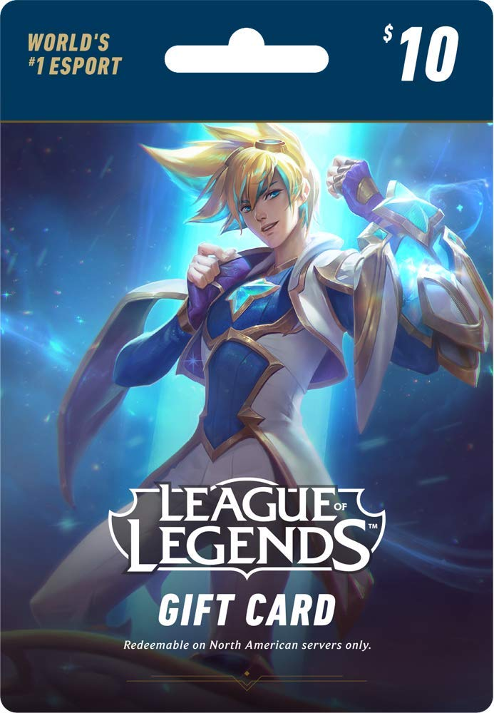 League of Legends $10 Gift Card - 1380 Riot Points - NA Server Only [Online Game Code] by Riot Games