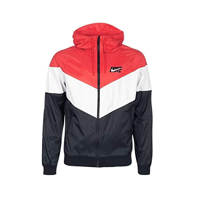 wholesale dealer c134d 5e0a6 Nike Giacca A Vento Sportswear Windrunner Hd Gx Qs rosso bianco nero  formato