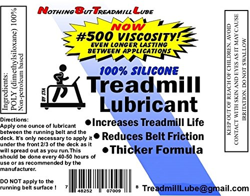 1 GALLON of PREMIUM 100% Silicone Treadmill lubricant w/Pump Dispenser