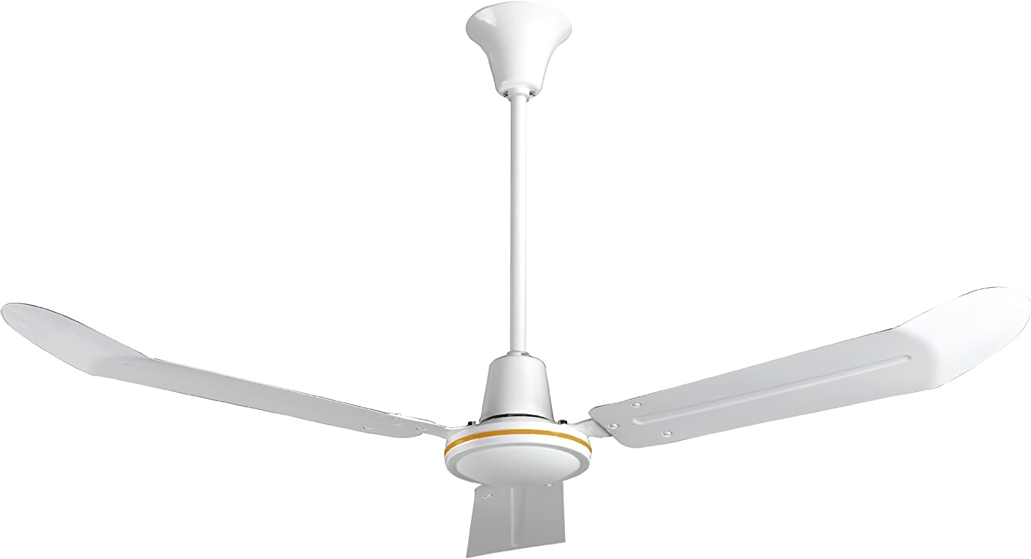 60 Inch White Ves Industrial Garage Ceiling Fan Forward Reverse With 18 Inch Downrod For Indoor Accessories Tools Home Improvement Sek Pro De