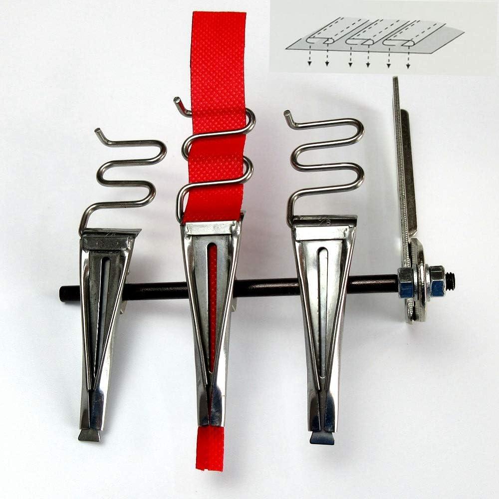 Carpeta de triple franja con múltiples cintas para máquina de coser Kansai Finish size: 1/2
