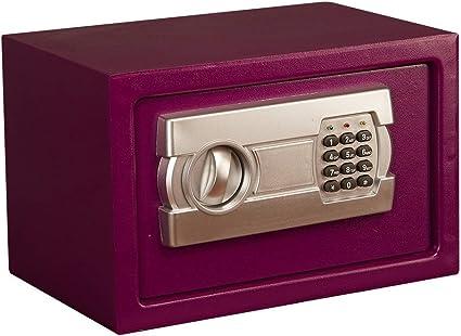 Caja de Seguridad Teclado numérico con 2 Pernos de Bloqueo for la Oficina en el hogar Caja Fuerte de Acero con Alarma incorporada: Amazon.es: Electrónica