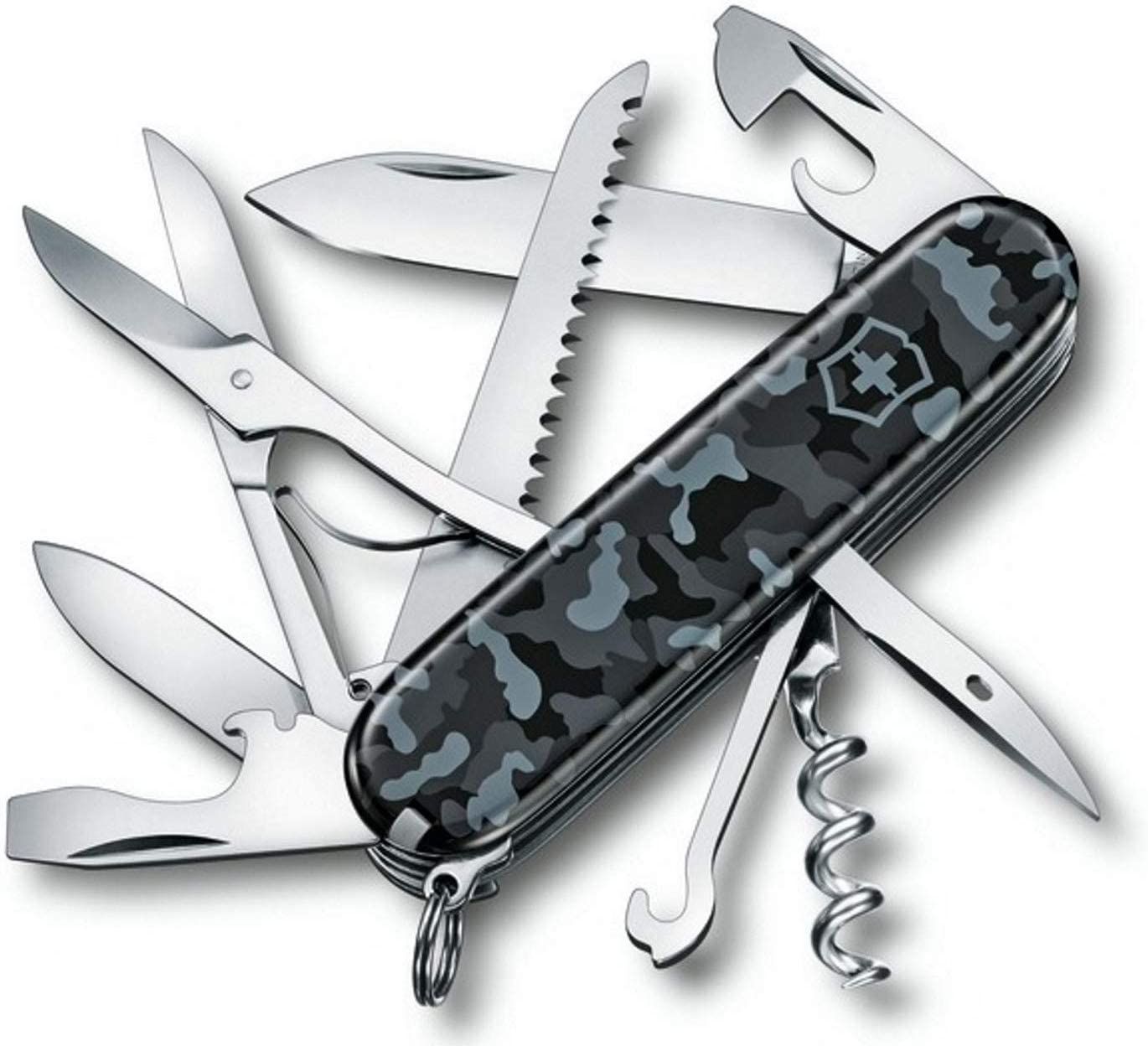 Victorinox Huntsman Navy Camouflage – Swiss Army Pocket Knife 91 mm – 15 Tools