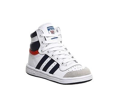 Top Basket Garçon 22Chaussures Hi Adidas Mode Ten Blanc j5RL34A