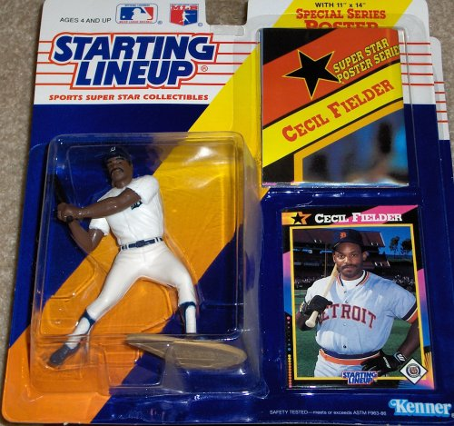 - Detroit Tigers' Cecil Fielder Action Figure - Starting Lineup 1991 Major League Baseball Series with 11