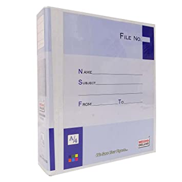amazon com documents folder a4 size 2 ring binder clip file folder