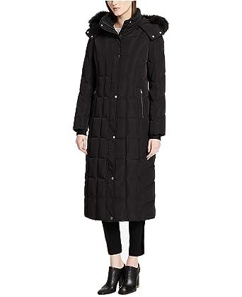 6f4240f86 Amazon.com: Calvin Klein Women's Faux-Fur-Trimmed Hooded Maxi Puffer ...