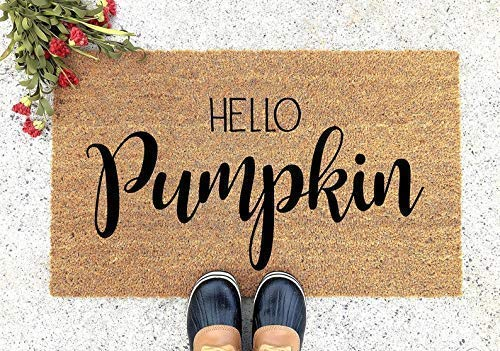 Hello Pumpkin Doormat - Thanksgiving Doormat - Welcome Mat - Welcome Door Mat - Cute Doormat - Funny Doormat - Personalized Doormat - Pumpkin Doormat
