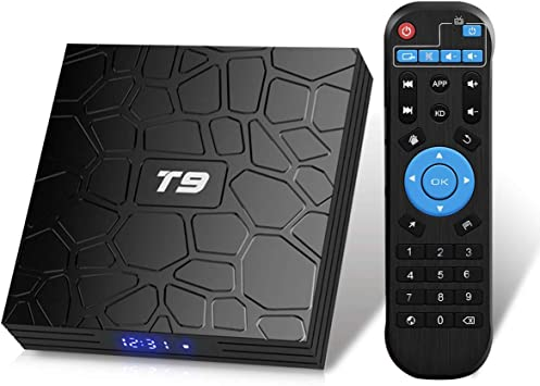 Android TV Box, T9 Android 9.0 TV BOX 4GB RAM/32GB ROM RK3318 Quad-Core Media Box Soporte 2.4GHz/5.0GHz WiFi 64 bits H.265 Bluetooth 4.0 DLNA UHD 4K Mini TV Box: Amazon.es: Electrónica