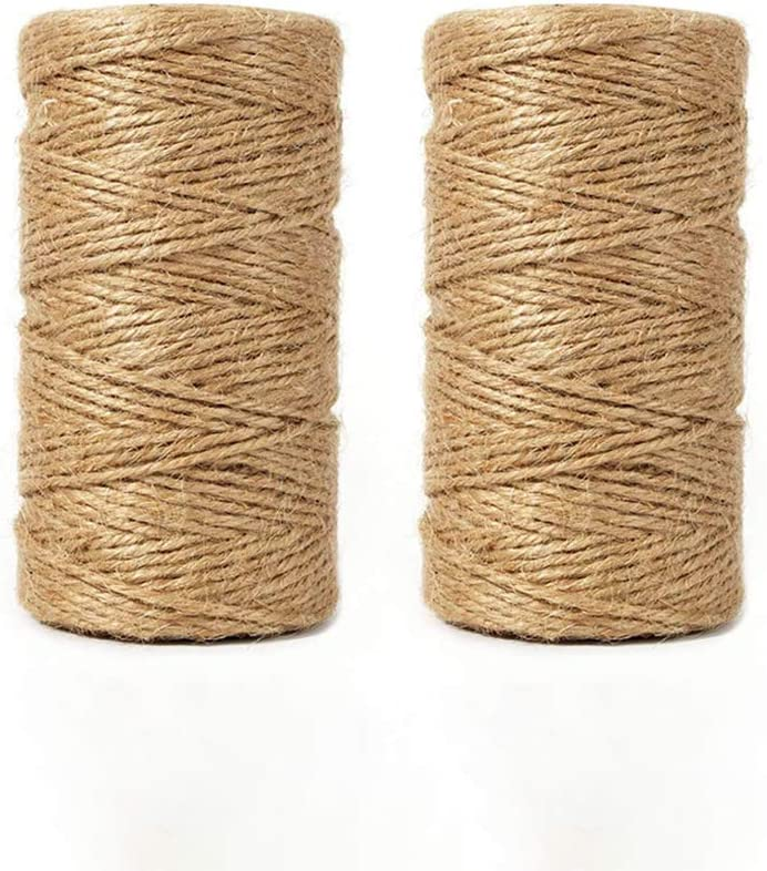 656 Feet Natural Jute Twine Best Arts Crafts Gift Twine Christmas Twine Durable Packing String for Gardening Applications BESROY Twine String for Crafts 200M