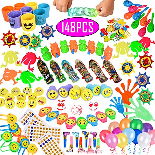ebuddy Carnival Prizes Toy Assortment Total 148pc for Kids School Classroom Rewards, Party Favor, Birthday Party, Pinata, Christmas, Festival ()