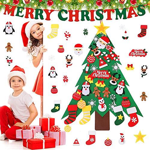 Árbol de Navidad en Fieltro para Niños Juguetes Educativos Decoración de Pared