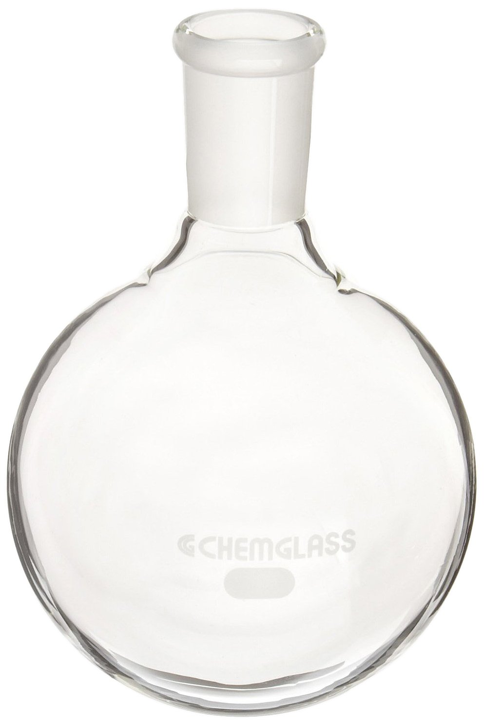 Chemglass CG-1506-18 Glass 250mL Heavy Wall Single Neck Round Bottom Flask, with 29/42 Standard Taper Outer Joint