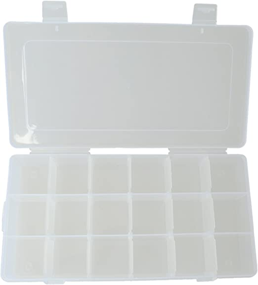 Mifive Caja de Almacenamiento de Accesorios con 18 Compartimentos para Tornillos: Amazon.es: Hogar