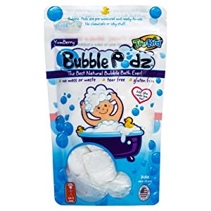 TruKid Bubble Podz Care for Sensitive Skin - Yumberry Scented Wellness Bath Bomb for Kids - Pediatrician and Dermatologist Tested - 24 Count