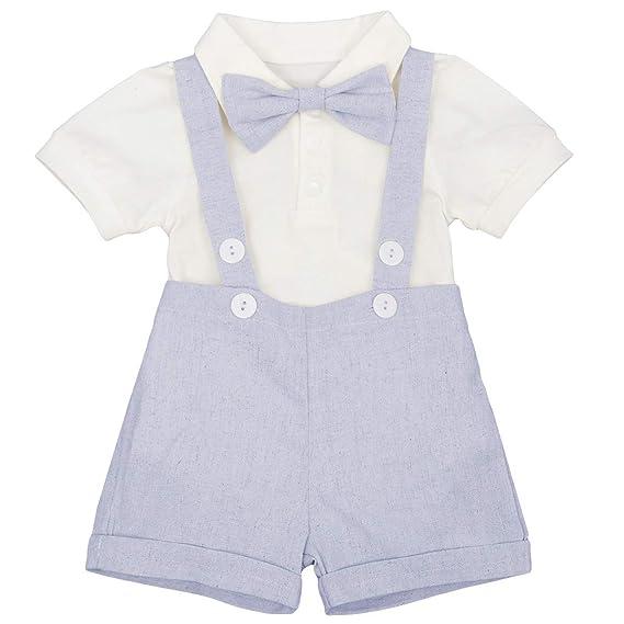 IBAKOM Conjunto de 3 Piezas de Camisa de Manga Corta + Pantalones ...