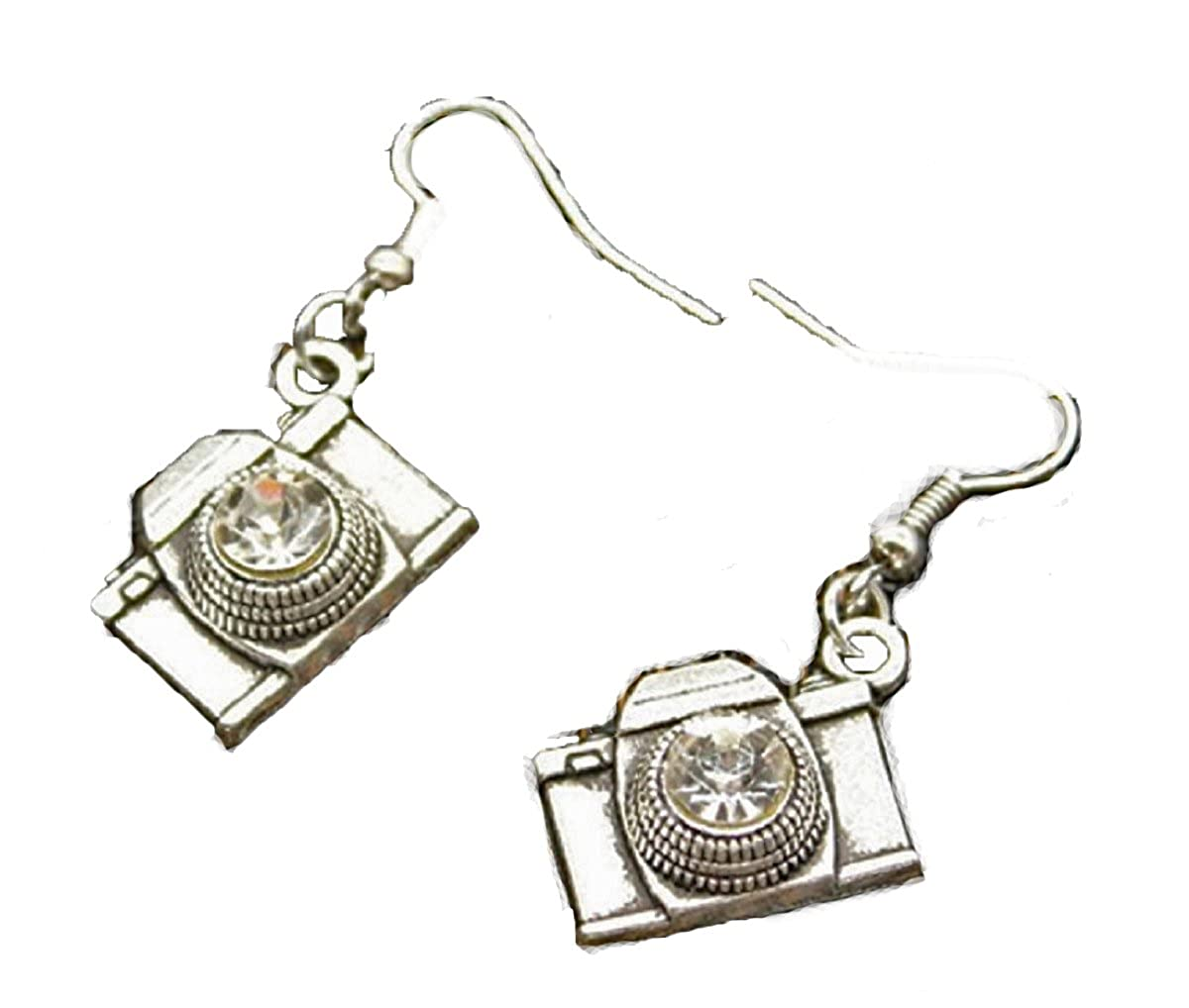FTH Camera Earrings are Embellished with Faceted Crystal Rhinestones Celebrate Your Favorite Hobby