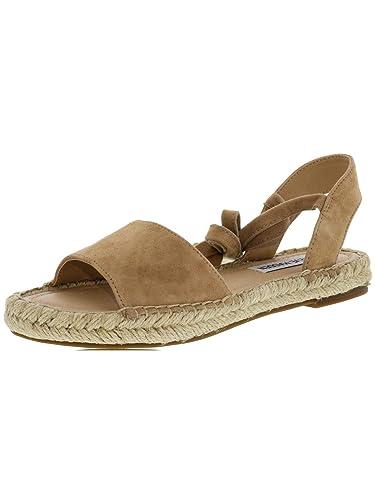 1596ab375d0 Amazon.com   Steve Madden Women's Ensley Suede Camel Sandal - 5M   Flats