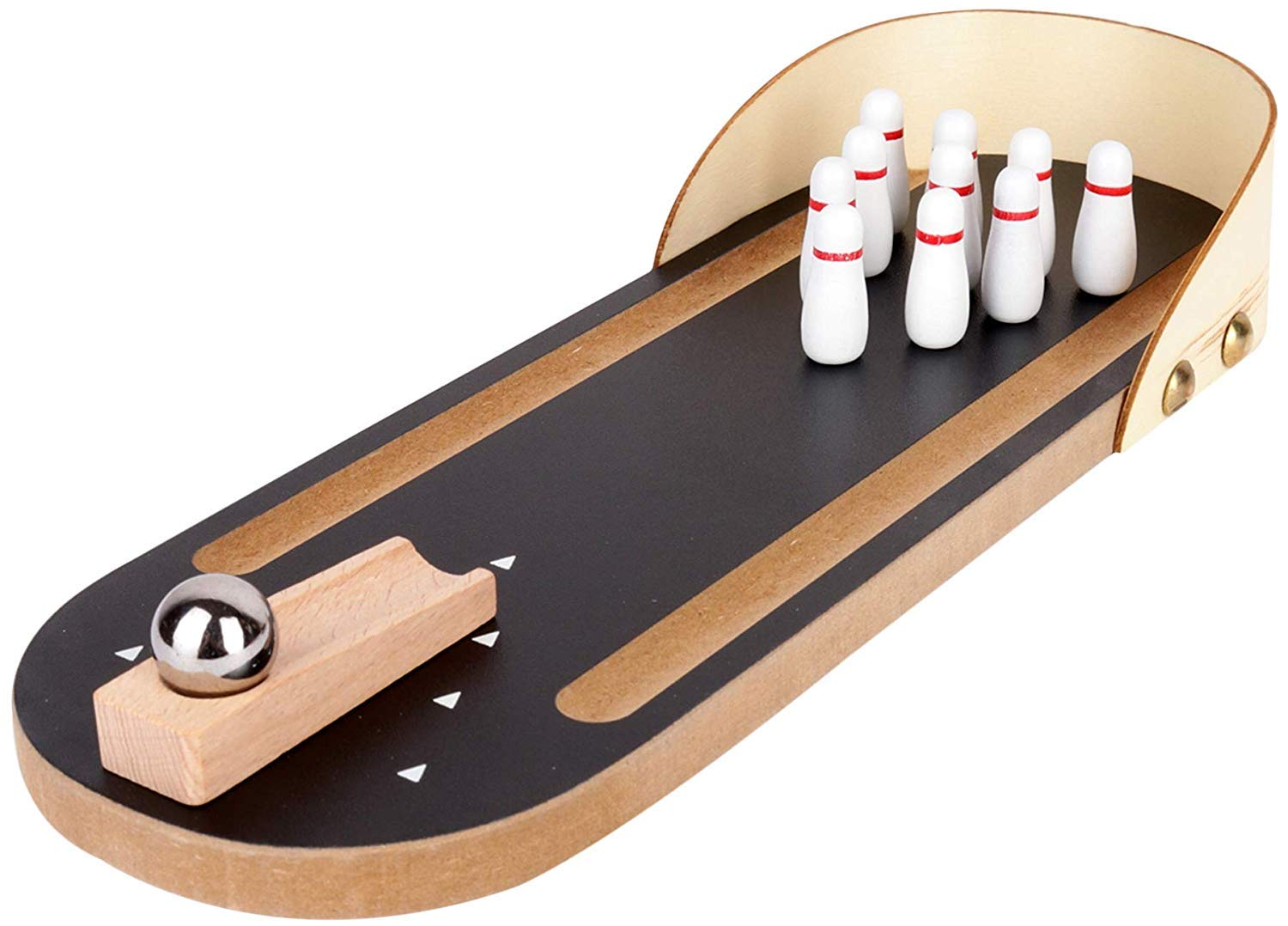 Webby Wooden Mini Bowling Table Top Toy Game Set For Kids And Adults