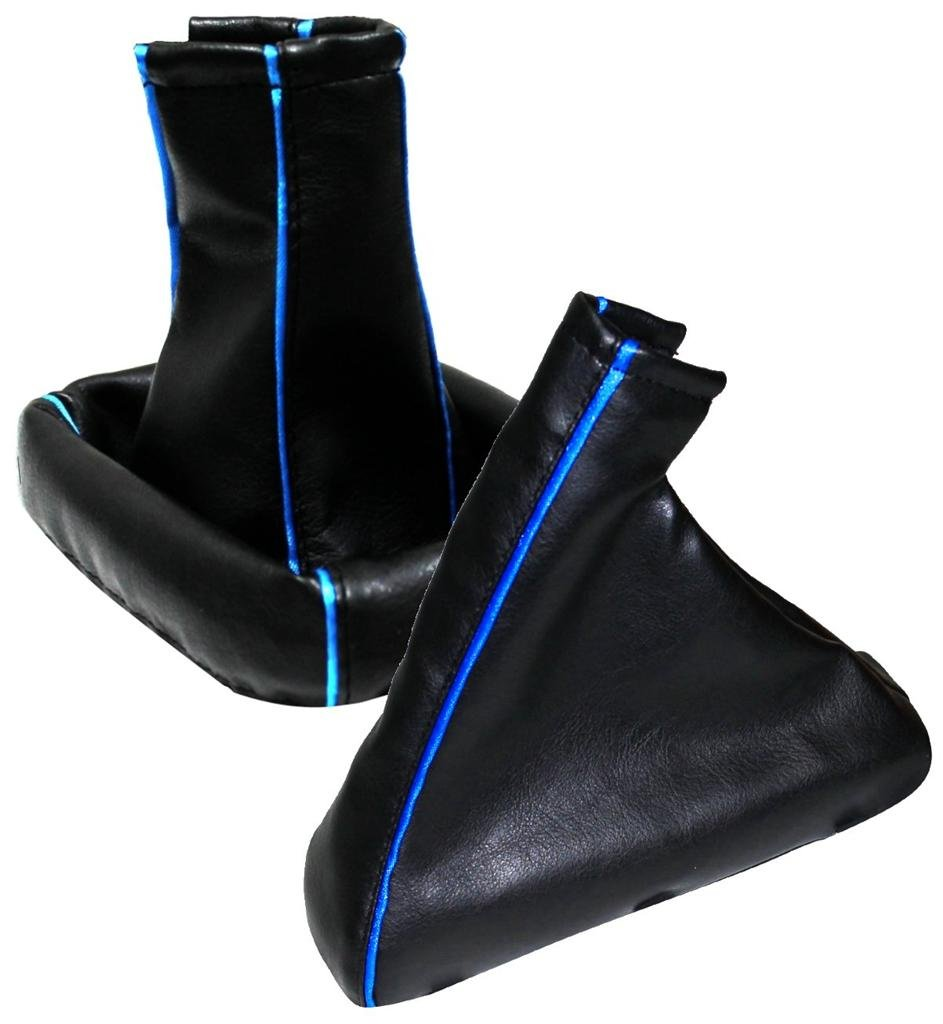 AERZETIX 40DG0017R0017G Soufflet Levier de Vitesse Frein à  Main, Bordure Bleue