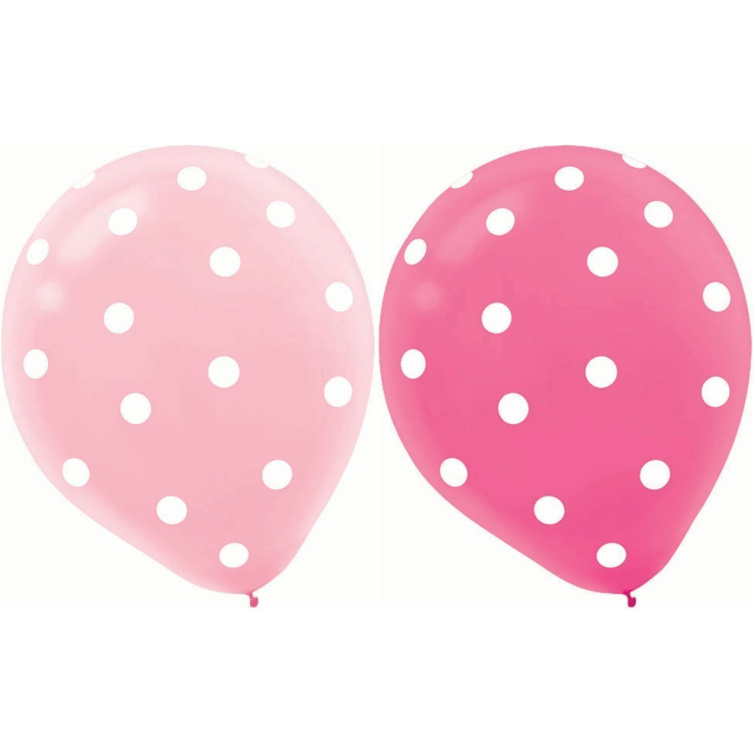 Hosaire 20 Pcs Balloons Round Helium 12 Inch Pink Polka Dot Balloons Mix Pink Rose