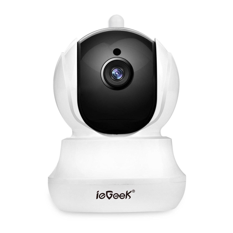 [Versión Actualizada] ieGeek Cámara IP wifi, HD 720P Cámara de Vigilancia, HD Visión Nocturna, Soporte Detección de Movimiento, Hifi audio de dos maneras con Micrófono y Altavoz Soporte Max 128G Micro SD Tarjeta para Registro