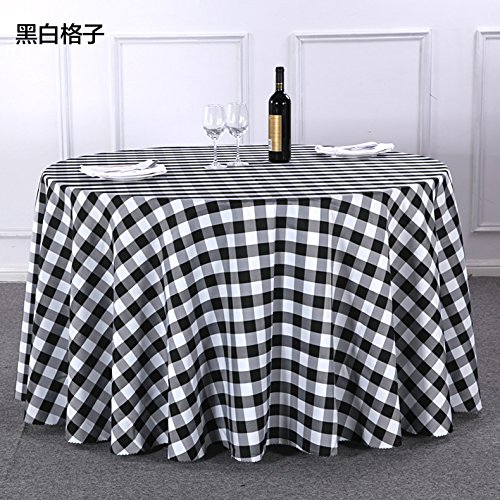 Table Cloth Plaid Tablecloth Living Room Tea Restaurant Tablecloth Garden Cloth,Black-And-White Grid,90×90Cm (When Cover Towels)