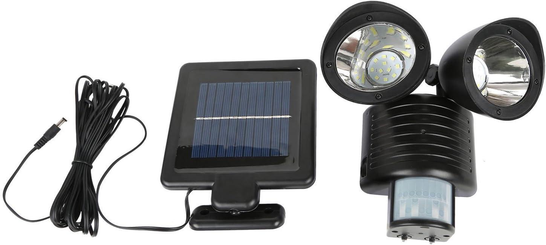 BKAUK Detecteur Double Securite 22 Led Projecteur Solaire Capteur De Mouvement Projecteur DExterieur Noir