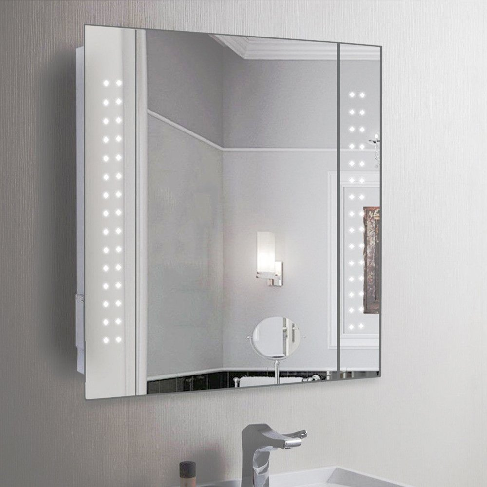 anaelle pandamoto armoire de toilette avec 1 miroir porte et lumineux led ebay. Black Bedroom Furniture Sets. Home Design Ideas