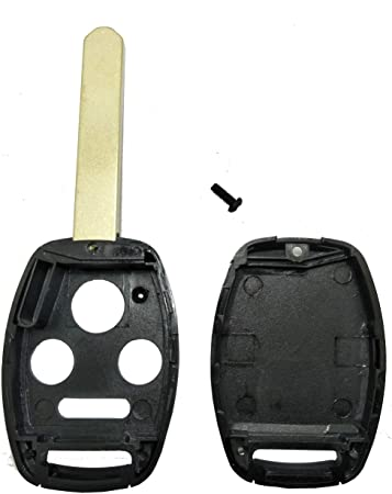 Replacement Keyless Entry Key Fob Case Fit For Honda 2003-2007 Accord 2005-2006 CR-V Ridgeline Civic Remote Control Key Combo 4 Buttons Replacement Car Key Shell Casing Blank Without Blade