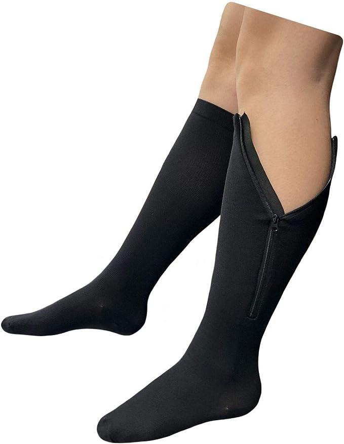 Zipper Compression Calf Leg Socks