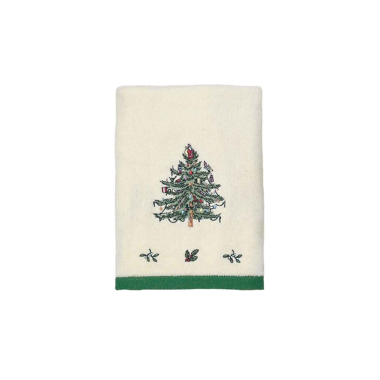spode christmas tree towel home kitchen