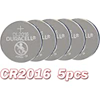 Duracell Pack of 5 Cr2016 Battery Button Coin Cell Batteries Lithium 3V Long Shelf Life
