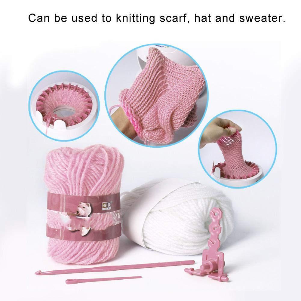 Zerodis Kids Round Knitting Looms Machine DIY Hand Weaving Knitting Kit Toys Smart Weaver Weaving Loom Educational Toy for Children Handmade Hat Scarves Sweater