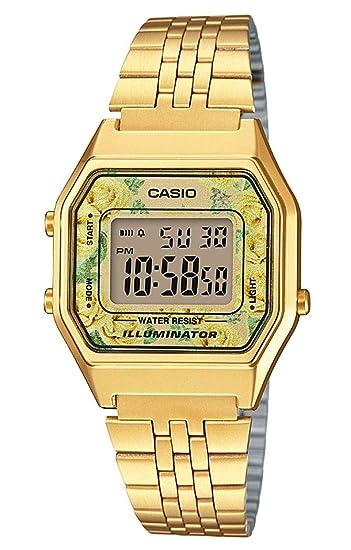 Casio Reloj Digital para Mujer de Cuarzo con Correa en Acero Inoxidable LA680WEGA-9CEF: Amazon.es: Relojes
