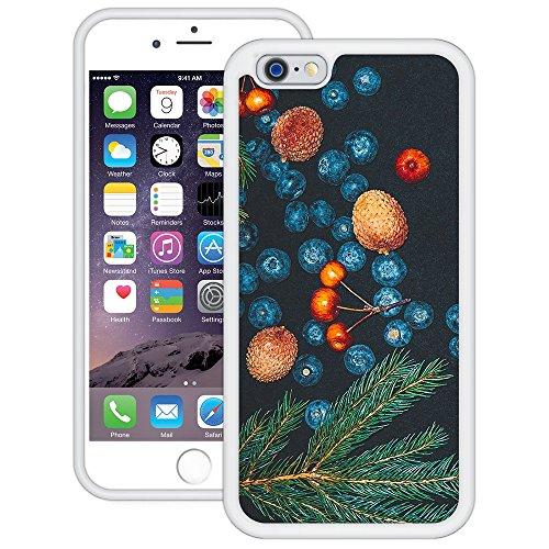 Heidelbeeren Malerei | Handgefertigt | iPhone 6 6s (4,7') | Weiß Hülle