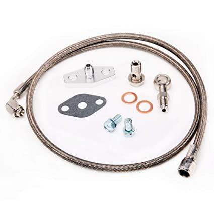 Amazon.com: Turbo Oil Feed Line Kit TOYOTA 1JZ-GTE 2JZ-GTE w/Garrett T3 T4 T04B T04E: Automotive