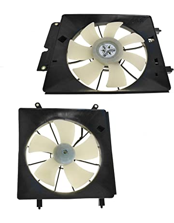 Radiator & AC Condenser Cooling Fan Assembly Pair for 02-06 Honda CR-V