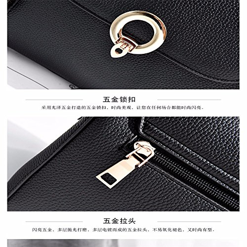 Women's Soft Body Capacity with Shoulder Shoulder Large MSZYZ Shoulder Casual Pockets Cross Leather Small PU Clutch Vintage Wristlet Bags Many BqPdzH6w