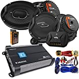"""jbl car speakers - (2) JBL GTO 939 Premium 6x9"""" Co-Axial Speaker + (2) GTO609C Premium 6.5"""" Component Speaker System + Gravity WZ1000.4 1000W 4 Channel 2/4 Ohm Stable w/Remote Sub Control Amplifier + Amp Kit"""