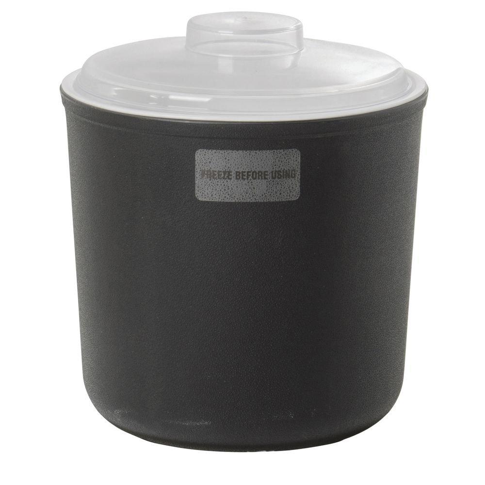 Carlisle Coldmaster 2 qt Black Polypropylene Coldcrock Set