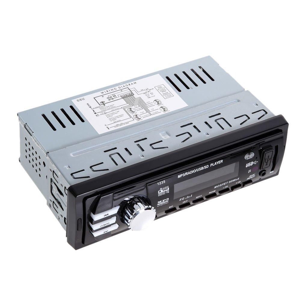 Amazon.com: 12V Car Radio Player Car Audio Auto Stereo FM Receiver ...