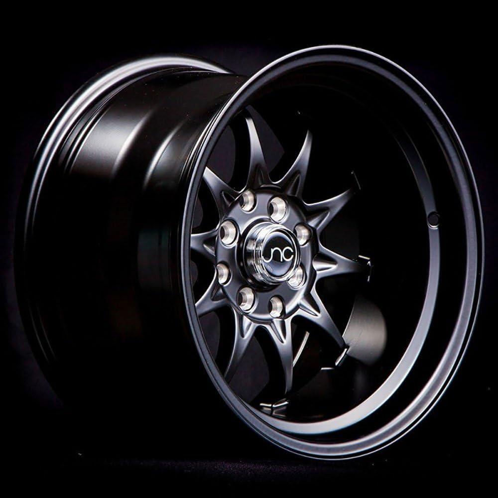 JNC Wheels 15 JNC003 Matte Black Rim 4x100//4x114.3-15x9 inch