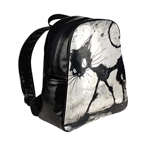 Amazon.com: Custom Tim Burton cat Multi-pocket Backpack School Travel Bag: Sports & Outdoors